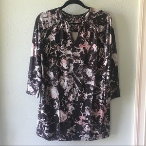 Soma Black & Pink Long Sleeve Dress